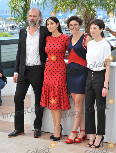 Alice Rohrwacher Photo - Alice Rohrwacher Monica Bellucci Alba Rohrwacher  Sam Louwyck at the photocall for their movie The Wonders at the 67th Festival de CannesMay 18 2014  Cannes FrancePicture Paul Smith  Featureflash