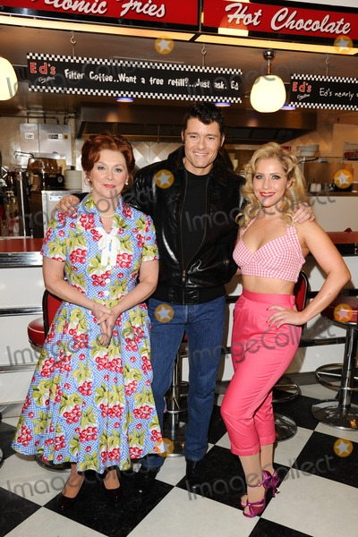 Cheryl Baker Photo - Cheryl Baker Ben Freeman and Heidi Range at the photocall for Happy Days The Musical at Eds Easy Diner Trocadero London 08012014 Picture by Steve Vas  Featureflash