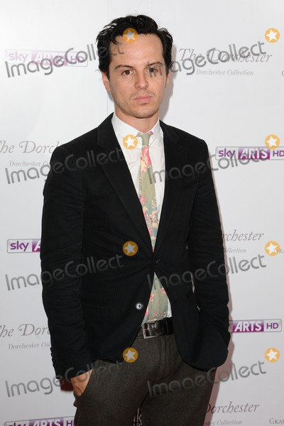 Andrew Scott Photo - Andrew Scott arriving for the South Bank Sky Arts Awards 2012 Dorchester Hotel London 01052012 Picture by Steve Vas  Featureflash