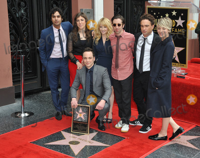 Kunal Nayyar Photo - Actor Jim Parsons  Big Bang Theory co-stars Kunal Nayyar (left) Mayim Bialik Melissa Rauch Simon Helberg Johnny Galecki  Kaley Cuoco-Sweeting on Hollywood Blvd where Parsons is honored with the 2545th star on the Hollywood Walk of FameMarch 11 2015  Los Angeles CAPicture Paul Smith  Featureflash