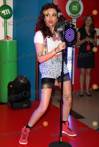 Jade Thirlwall Photo - Jade Thirlwall of Little Mix performing an exclusive gig to launch The Union Jack pack of MMs at the MM Store London 23052012 Picture by Alexandra Glen  Featureflash