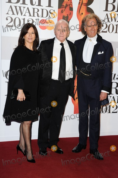 Andre Rieu Photo - Sir Anthony Hopkins and violinist Andre Rieu arriving for the Classic Brit Awards 2012 at the Royal Albert Hall London 02102012 Picture by Steve Vas  Featureflash