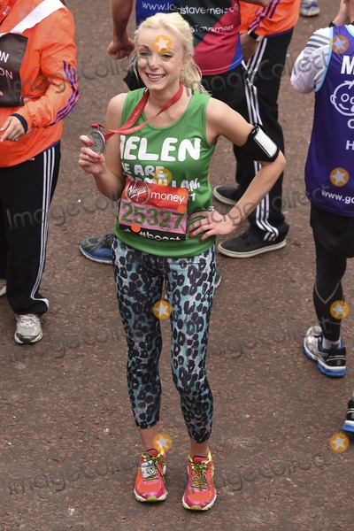 Helen George Photo - Helen George finishes the 2015 London Marathon The Mall London 26042015 Picture by Steve Vas  Featureflash