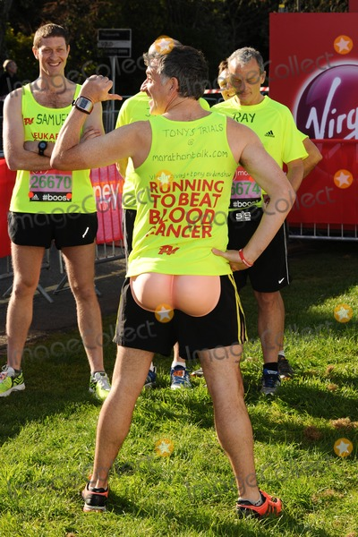 Tony Audenshaw Photo - Tony Audenshaw poses at the start of the 2014 Virgin Active London Marathon Blackheath Common London 13042014 Picture by Steve Vas  Featureflash