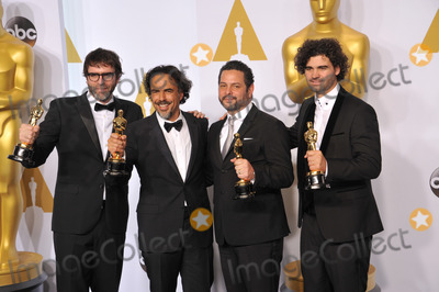 Alexander Dinelaris Photo - Alejandro Gonzalez Inarritu  Nicolas Giacobone  Alexander Dinelaris Jr  Armando Bo at the 87th Annual Academy Awards at the Dolby Theatre HollywoodFebruary 22 2015  Los Angeles CAPicture Paul Smith  Featureflash