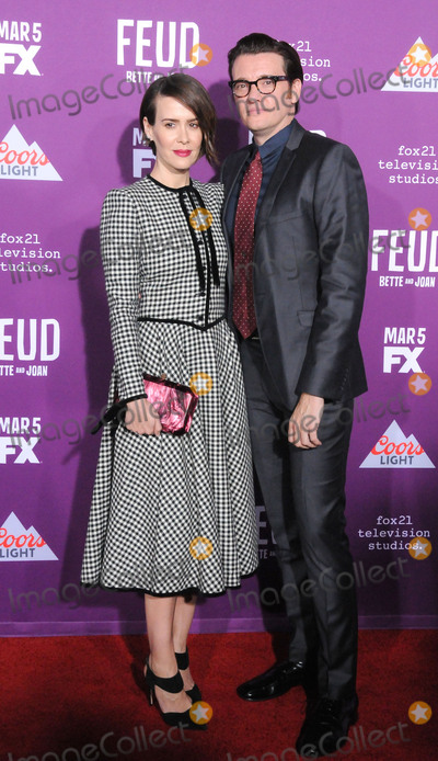 Graumans Chinese Theatre Photo - HOLLYWOOD CA - MARCH 1 (L-R) Actress Sarah Paulson and Sam Butler attend Red Carpet Event for FXs Feud Bette And Joan at Graumans Chinese theatre on March 1 2017 in Hollywood California  (Photo by Barry KingImageCollectcom)