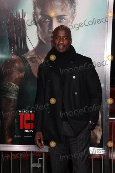 Akbar Gbajabiamila Photo - Akbar Gbajabiamila 03122018 The US Premiere of Tomb Raider held at TCL Chinese Theater in Los Angeles CA Photo by Izumi Hasegawa  HollywoodNewsWireco