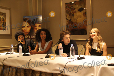 Austin Abrams Photo - Justice Smith Jaz Sinclair Austin Abrams Halston Sage 07182015 Paper Towns Photocall held at Four Seasons Los Angeles at Beverly Hills in Los Angeles CA Photo by Izumi Hasegawa  HollywoodNewsWirenet