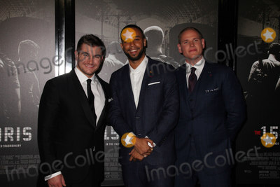 Alek Skarlatos Photo - Alek Skarlatos Anthony Sadler Spencer Stone 02052018 The World Premiere of The 1517 to Paris held at The SJR Theater at Warner Bros Studios in Burbank CA Photo by Izumi Hasegawa  HollywoodNewsWireco