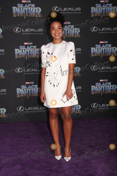 Aisha Dee Photo - Aisha Dee 01292018 The World Premiere of Black Panther held at The Dolby Theatre in Los Angeles CA Photo by Izumi Hasegawa  HollywoodNewsWireco