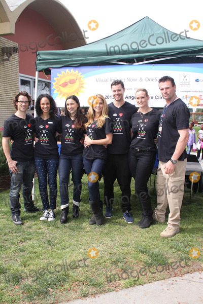 Andrew Lee Photo - Andrew Lees Cynthia Addai-Robinson Jenna Lind Ellen Hollman Daniel Feuerriegel Vanessa Cater Stephen Dunlevy03202013 2013 Visual Impact Nowh Charity Event with eSpartacus War of the Damnedf Cast Volunteer held at Visual Impact Now Eye Clinic Los Angeles Science Center Los Angeles CA Photo by Hanako Sato  HollywoodNewsWirenet