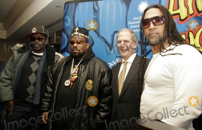 Afrika Bambaataa Photo - (L_R) Five 5 Freddy Afrika Bambaataa Brent D Glass (NM of AH director) and Kool Herk pose for pictures after the Smithsonians Museum of American Historys press conference launching their first ever hip-hop national collecting initiative on February 28 2006 in New York City