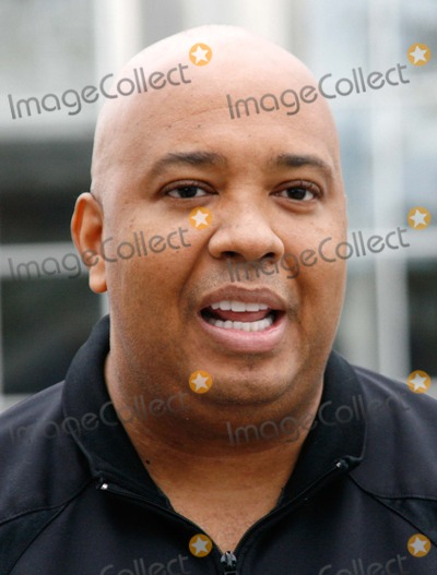 Rev Run Photo - LondonUK Rev Run  (AKA Joseph Simmons ) from the US rap group Run-DMC  being interviewed for a TV show outside the venue for the MOBO Awards on the 15th October Also known as Joey Simmons - Run-DMC  were originally formed in 1983 and had many hits including the classic Walk this Way (with Aerosmith)  However following the murder of band member Jam-Master Jay in 2002 they split up 14th October 2008 Lisle BrittainLandmark Media