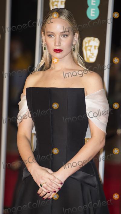 Jennifer Lawrence Photo - London UK  Jennifer Lawrence  at  the EE British Academy Film Awards (BAFTA) held at Royal Albert Hall on February 18 2018 in London 18th February 2018Ref LMK386-S1156-180218Gary MitchellLandmark Media WWWLMKMEDIACOM