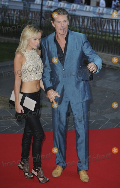Hayley Roberts Photo - London UK David Hasselhoff and Hayley Roberts  at the World Premiere of  Rush  at the Odeon Leicester Square London  2nd September 2013 RefLMK386-45136-030913 Gary MitchellLandmark Media  WWWLMKMEDIACOM