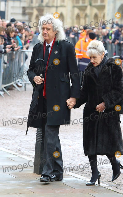 Anita Dobson Photo - CambridgeUK  Brian May and Anita Dobson  at the Professor Stephen Hawking Funeral at the Church of St Mary the Great The University Church Senate House Hill Cambridge UK  31st March 2018Ref LMK73-S1220-310318Keith MayhewLandmark Media WWWLMKMEDIACOM