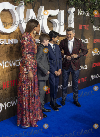 Andy Serkis Photo - London UK Naomie Harris Louis Ashbourne Serkis Rohand Chand and Andy Serkis   at a special screening of Netflixs Mowgli Legend Of The Jungle at The Curzon Mayfair on December 4 2018 in London EnglandRef LMK386-J3078-051218Gary MitchellLandmark MediaWWWLMKMEDIACOM