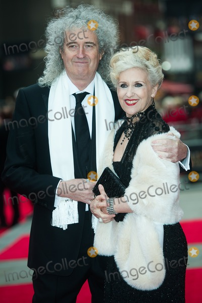 Anita Dobson Photo - London UK Brian May and Anita Dobson at the Olivier Awards at The Royal Opera House Covent Garden 28t April 2013Justin NgLandmark Media