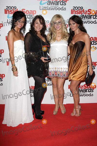 Hollyoaks Cast Photo - London UK Hollyoaks cast members Jennifer Metcalfe Nicole Barber-Lane Gemma Merna and Claire Cooper at the Inside Soap Awards held at Sketch London28 September 2009Keith MayhewLandmark Media