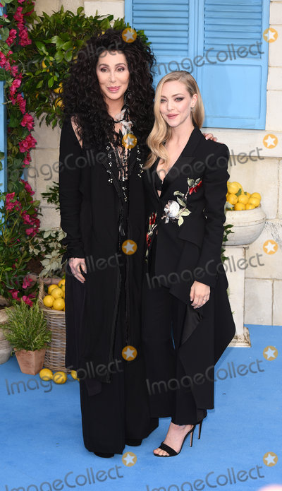 Amanda Seyfried Photo - London UK Cher and Amanda Seyfried at The World Premiere of Mamma Mia Here We Go Again held at Eventim Apollo Hammersmith on Monday 16 July 2018Ref LMK392-J2320-170718Vivienne VincentLandmark Media WWWLMKMEDIACOM