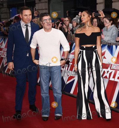 Alesha Dixon Photo - London UK David Walliams Simon Cowell and Alesha Dixon at Britains Got Talent photocall held at The London Palladium Argyll Street London on Sunday 29 January 2017Ref LMK392-62709-290117Vivienne VincentLandmark Media WWWLMKMEDIACOM