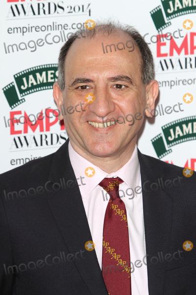 Armando Iannucci Photo - London UK   Armando Iannucci at the Jamesons Empire Film Awards at the Grosvenor House Hotel Park Lane London  30th March 2014 RefLMK73-48013-310314 Keith MayhewLandmark Media WWWLMKMEDIACOM