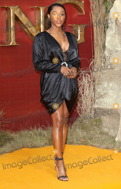 Alexandra Burke Photo - London UK Alexandra Burke at European Premiere of Disneys The Lion King at the Odeon Luxe cinema Leicester Square London on July 14th 2019Ref LMK73-J5182-150719Keith MayhewLandmark MediaWWWLMKMEDIACOM