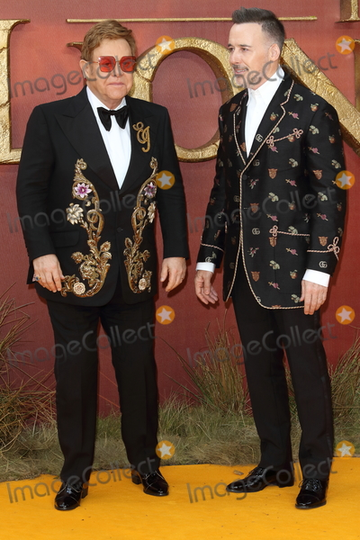 David Furnish Photo - London UK Elton John and David Furnish at European Premiere of Disneys The Lion King at the Odeon Luxe cinema Leicester Square London on July 14th 2019Ref LMK73-J5182-150719Keith MayhewLandmark MediaWWWLMKMEDIACOM