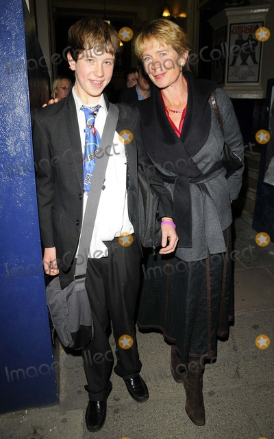Celia Imrie Photo - London UK Celia Imrie and son  at the Press Night for French and Saunders Still Alive at the Theatre Royal Drury Lane in London 16th October 2008Can NguyenLandmark Media