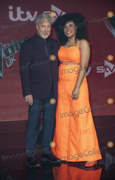 Tom Jones Photo - London UK  Tom Jones and Ruti Olajudbagbe  at The Voice UK Final 2019 photocall at Elstree Studios on April 4 2019 in Borehamwood EnglandRef LMK386-J4690-050419Gary MitchellLandmark MediaWWWLMKMEDIACOM