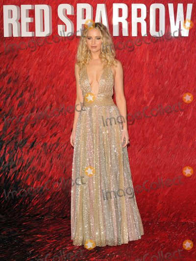 Jennifer Lawrence Photo - London UK Jennifer Lawrence at the Red Sparrow European film premiere Vue West End cinema Leicester Square London England UK on Monday 19 February 2018Ref LMK315-J1605-200218Can NguyenLandmark Media WWWLMKMEDIACOM