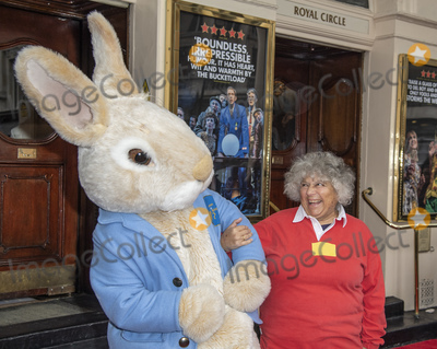 Peter Rabbit Photo - LondonUK  Miriam Margolyes at the Gala Performance of Where is Peter Rabbit at the Theatre Royal HaymarketApril 9 2019 Ref LMK386-MB4000-090419WWWLMKMEDIACOM Gary Mitchell  Landmark Media