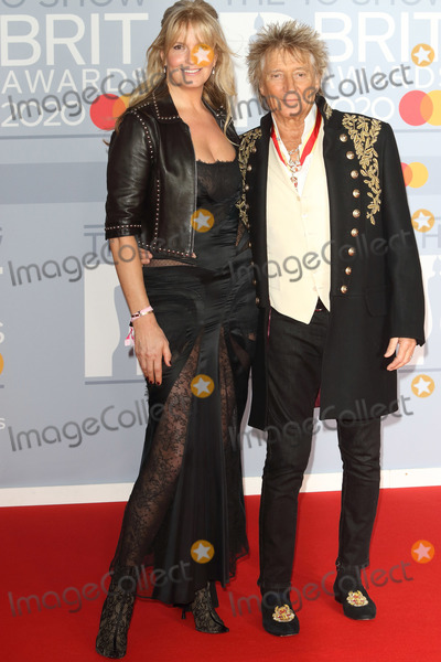 Rod Stewart Photo - LondonUK  Penny Lancaster and Sir Rod Stewart    at 40th Brit Awards Red Carpet arrivals The O2 Arena London 19th February 2020 RefLMK73-S2890-190220Keith MayhewLandmark MediaWWWLMKMEDIACOM