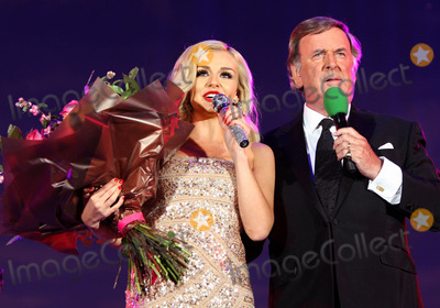 Katherine Jenkins Photo - London UK Katherine Jenkins and Terry Wogan performing live at the BBC Proms in the Park at Hyde Park 10th September 2011Keith MayhewLandmark Media
