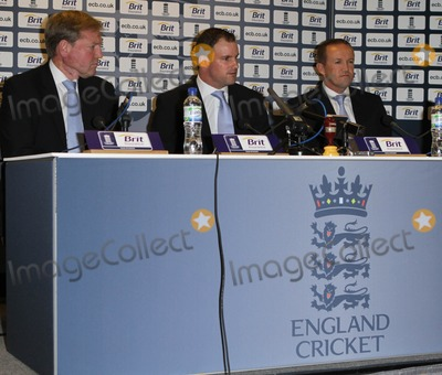 Andy Flower Photo - London UK  080211Andrew Strauss and Andy Flower (cricketers) at a press conference at the Ranaissance Hotel at Heathrow Airport as the England squad arrive home from Australia after winning the Ashes series 3-18 February 2011Evil ImagesLandmark Media