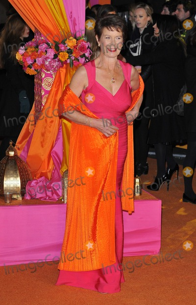 Celia Imrie Photo - London UK Celia Imrie  at  The Royal Film Performance and World Premiere of The Second Best Exotic Marigold Hotel at Odeon Leicester Square on February 17 2015 in London Ref LMK315-50611-180215Can NguyenLandmark MediaWWWLMKMEDIACOM