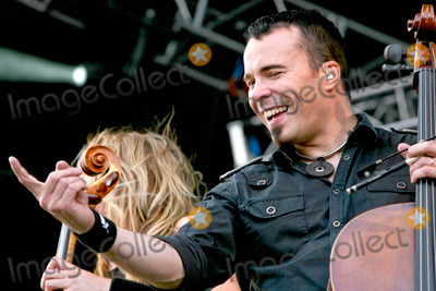 Apocalyptica Photo - Catton Hall Derbyshire UK Apocalyptica perform live at Bloodstock Open Air 2009 at Catton Hall Apocalyptica are Eicca Toppinen Paavo Lotjonen Perttu Kivilaakso andMikko Siren 15th August 2009Taya UddinLandmark Media