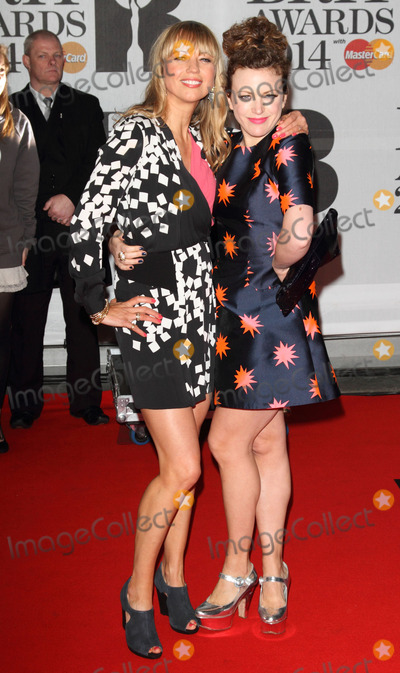 Annie Mac Photo - London UK   Sara Cox and Annie Mac  at the The BRIT Awards with MasterCard 2014 Red Carpet arrivals at the 02 Arena London 19th February 2014  RefLMK73-47701-200214Keith MayhewLandmark MediaWWWLMKMEDIACOM