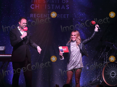 The Script Photo - London UK Jamie Theakston and Amanda Holden of The Script at Londons Premier Shopping destination Regent Street  annual Christmas Lights Switch On Event Regent Street London on November 14th 2019Ref LMK73-5793-151119Keith MayhewLandmark MediaWWWLMKMEDIACOM