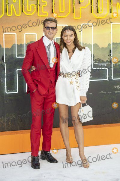 Oliver Proudlock Photo - London England  Oliver Proudlock and Emma Louise Connolly at  the UK Premiere of Once Upon a Time in Hollywood Odeon Luxe Leicester Square London England 30th July 2019Ref LMK386-J5279-310719Gary MitchellLandmark MediaWWWLMKMEDIACOM