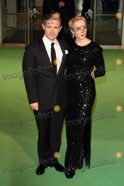 Amanda Abbington Photo - London UK Martin Freeman and Amanda Abbington at The Royal Film Performance 2012 - The Hobbit An Unexpected Journey at the Odeon Cinema Leicester Square 12th December 2012Keith MayhewLandmark Media