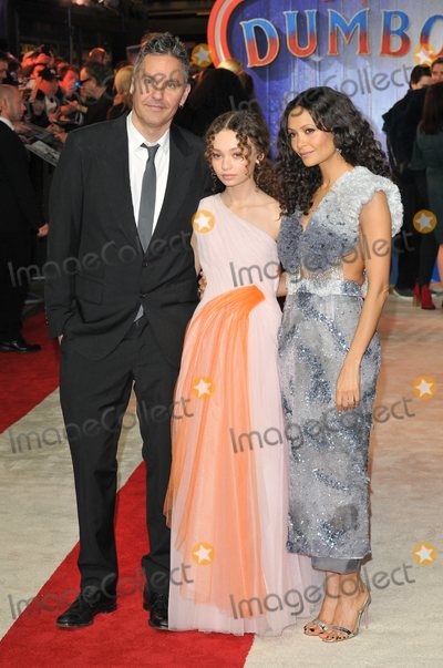 Nico Parker Photo - London UK  Ol Parker Nico Parker and Thandie Newton  at the Dumbo European film premiere Curzon Mayfair Curzon Street London England UK on Thursday 21st March 2019  RefLMK315-S2300-240319 Can NguyenLandmark Media WWWLMKMEDIACOM