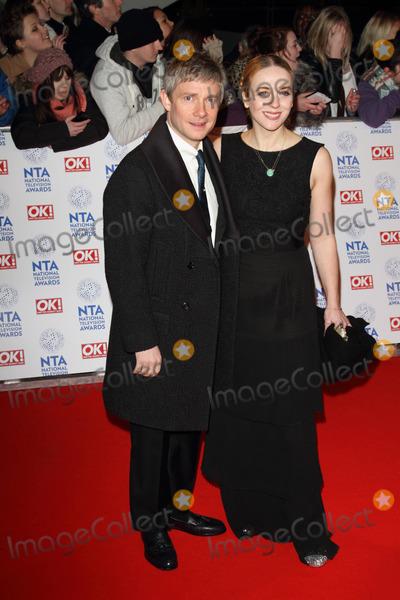 Amanda Abbington Photo - London UK 230113Martin Freeman and Amanda Abbington at the National Television Awards held at the O2 Arena in London23 January 2013Keith MayhewLandmark Media