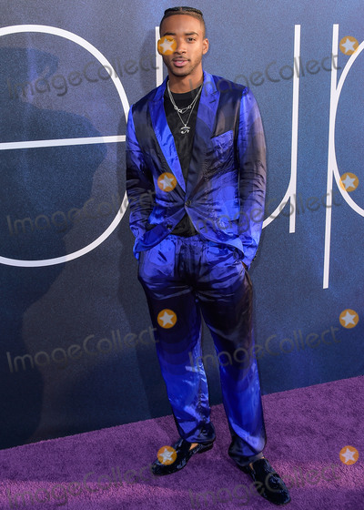 Algee Smith Photo - HOLLYWOOD LOS ANGELES CALIFORNIA USA - JUNE 04 Actor Algee Smith arrives at the Los Angeles Premiere Of HBOs Euphoria held at the ArcLight Cinerama Dome on June 4 2019 in Hollywood Los Angeles California United States (Photo by Image Press Agency)