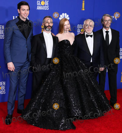 Brian Cox Photo - BEVERLY HILLS LOS ANGELES CALIFORNIA USA - JANUARY 05 Nicholas Braum Jeremy Strong Sarah Snook Brian Cox and Alan Ruck pose in the press room at the 77th Annual Golden Globe Awards held at The Beverly Hilton Hotel on January 5 2020 in Beverly Hills Los Angeles California United States (Photo by Xavier CollinImage Press Agency)