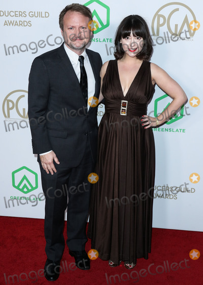 RIAN JOHNSON Photo - HOLLYWOOD LOS ANGELES CALIFORNIA USA - JANUARY 18 Rian Johnson and Karina Longworth arrive at the 31st Annual Producers Guild Awards held at the Hollywood Palladium on January 18 2020 in Hollywood Los Angeles California United States (Photo by Xavier CollinImage Press Agency)