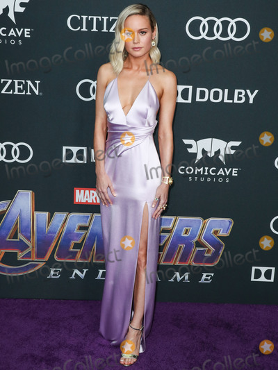 Brie Larson Photo - LOS ANGELES CALIFORNIA USA - APRIL 22 Actress Brie Larson wearing a Celine gown Louboutin shoes and bag and custom Irene Neuwirth jewelry arrives at the World Premiere Of Walt Disney Studios Motion Pictures and Marvel Studios Avengers Endgame held at the Los Angeles Convention Center on April 22 2019 in Los Angeles California United States (Photo by Xavier CollinImage Press Agency)