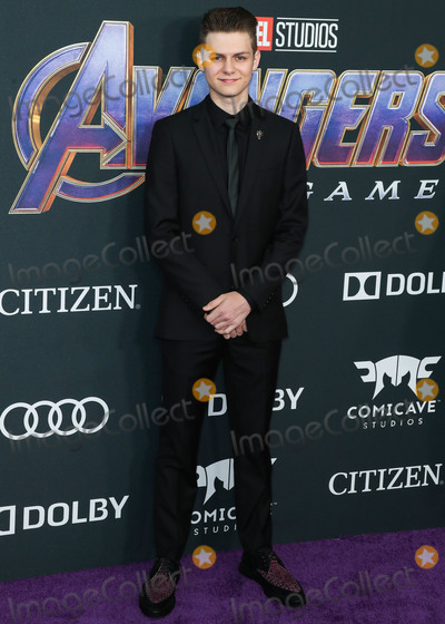 TY SIMPKINS Photo - LOS ANGELES CALIFORNIA USA - APRIL 22 Actor Ty Simpkins arrives at the World Premiere Of Walt Disney Studios Motion Pictures and Marvel Studios Avengers Endgame held at the Los Angeles Convention Center on April 22 2019 in Los Angeles California United States (Photo by Xavier CollinImage Press Agency)