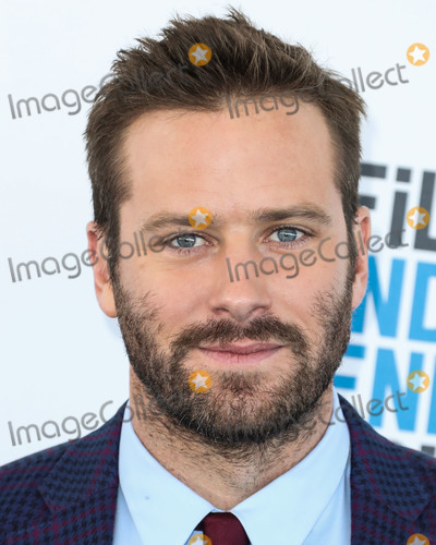 Armie Hammer Photo - SANTA MONICA LOS ANGELES CA USA - FEBRUARY 23 Actor Armie Hammer wearing an Etro suit arrives at the 2019 Film Independent Spirit Awards held at the Santa Monica Beach on February 23 2019 in Santa Monica Los Angeles California United States (Photo by Xavier CollinImage Press Agency)