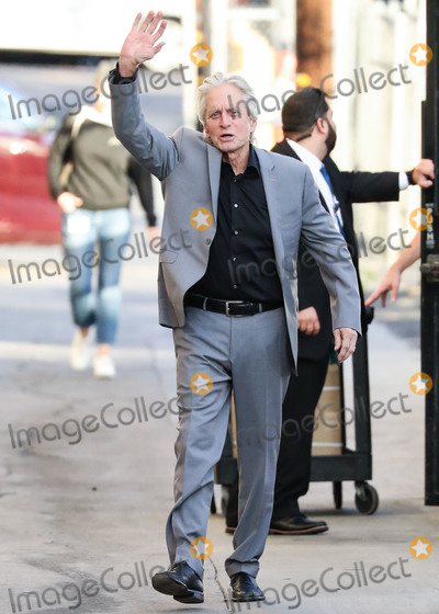 Michael Douglas Photo - HOLLYWOOD LOS ANGELES CALIFORNIA USA - NOVEMBER 19 Actor Michael Douglas seen at Jimmy Kimmel Live on November 19 2019 in Hollywood Los Angeles California United States (Photo by Xavier CollinImage Press Agency)
